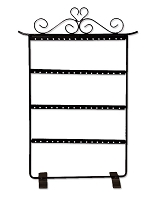 Metal Earring Jewelry Display Rack (Holds 32 Pairs)