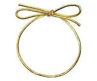 Metallic Stretch Loop Gold 6