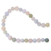 Morganite 6mm Round Beads (15