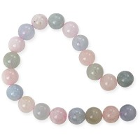 Morganite 8mm Round Beads (15