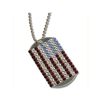 Patriotic Dog Tag Necklace