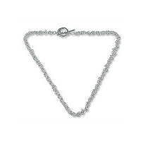 Sterling Silver Jump Ring Necklace