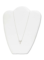 Necklace Display Medium White Leatherette