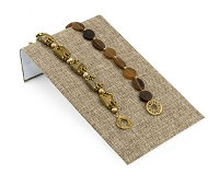 Jewelry Display Bracelet Ramp Burlap 4-3/4
