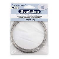 Remembrance Round Necklace Memory Wire Bright Stainless Steel 1oz.