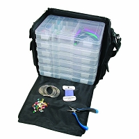 Beader's Traveler Case with 6 Storage Boxes
