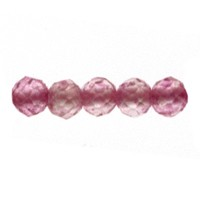 Pink Topaz Faceted Beads 2mm (13 Inch Strand)