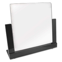 Pivoting Counter Top Mirror - Black Trim