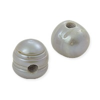Freshwater Large Hole Potato Pearl Light Silver 9-10mm (1-Pc)