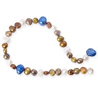 Freshwater Potato Pearl Bronze/Blue Mix 5-10mm (16