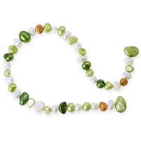 Freshwater Potato Pearl Green Mix 5-10mm (16