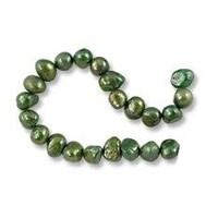 Freshwater Potato Pearl Nuggets Viridian 7-8mm (16