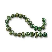 Freshwater Potato Pearl Nuggets Viridian 8-9mm (16