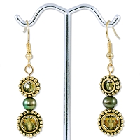 Green Eye Earring Project