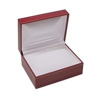 4x3 Cartier Style Red Watch Box with White Pillow