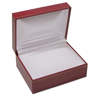 5x4 Cartier Style Red Watch Box with White Pillow