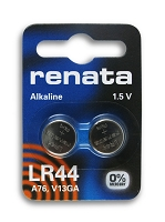 Renata Calculator Battery LR44 (2-Pcs)