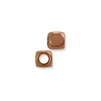 Rounded Cube Bead 3mm Copper (10-Pcs)