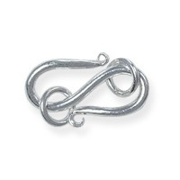 S Clasp with Jump Rings 19x10mm Sterling Silver (1-Pc)