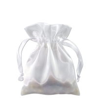 Satin Jewelry Pouch 3x4 White (10-Pcs)