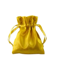 Satin Jewelry Pouch 3x4 Gold (10-Pcs)