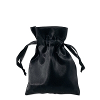 Satin Jewelry Pouch 3x4 Black (10-Pcs)