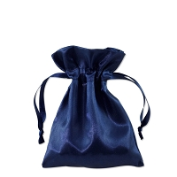 Satin Jewelry Pouch 3x4 Navy (10-Pcs)