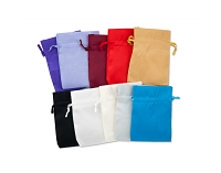 Satin Jewelry Pouch Color Assortment (3x4) (10 pcs)