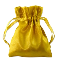 Satin Jewelry Pouch 4x5 Gold (10-Pcs)