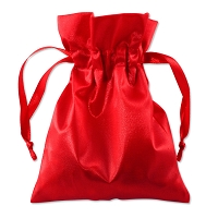 Satin Jewelry Pouch 4x5 Red (10-Pcs)