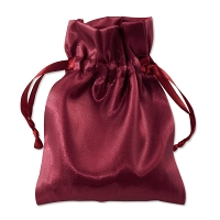 Satin Jewelry Pouch 4x5 Burgundy (10-Pcs)