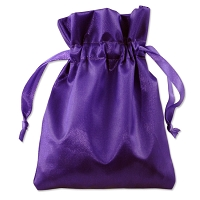 Satin Jewelry Pouch 4x5 Purple (10-Pcs)