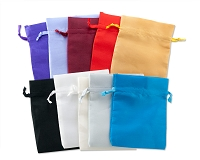 Satin Jewelry Pouch Color Assortment (4x5) (10 pcs)