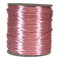 Rattail Satin Cord 2mm Pink (Priced per Yard)