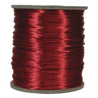 Rattail Satin Cord 2mm  Red (Priced per Yard)