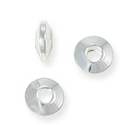 4x2mm Sterling Silver Plated Saucer Bead (4-Pcs)