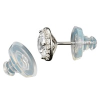 Silicone Silder 6mm Ear Back Sterling Silver (1-Pc)