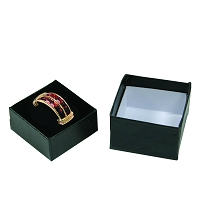 Square Ring Box - Black