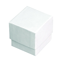 Square Ring Box - White