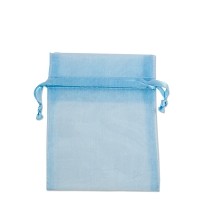 Organza Drawstring Bags 3x4 Light Blue (10-Pcs)