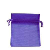 Organza Drawstring Bags 3x4 Purple (10-Pcs)