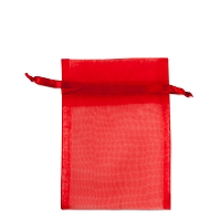 Organza Drawstring Bags 3x4 Red (10-Pcs)