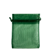 Organza Drawstring Bags 3x4 Hunter Green (10-Pcs)