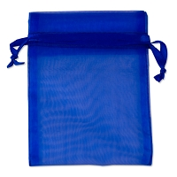Organza Drawstring Bags 4x5 Royal Blue (10-Pcs)