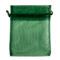 Organza Drawstring Bags 4x5 Hunter Green (10-Pcs)