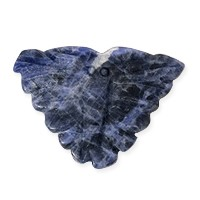 Sodalite Carved Butterfly Bead 30x23mm (1-Pc)