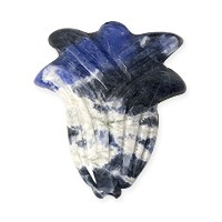 Sodalite Carved Flower Bead 25x30mm (1-Pc)