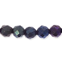 Blue Coated Spinel Faceted Beads 2mm (13 Inch Strand)