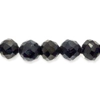 Silver Coated Spinel Faceted Beads 2mm (13 Inch Strand)