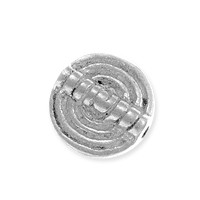 Spiral Coin Bead 12x2mm Nickel Silver (1-Pc)